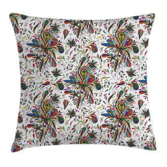 Ethnic Flora Pattern Pillow Cover
