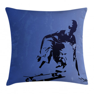 Abstract Vector Skaters Pillow Cover