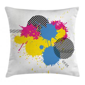 Grunge Ink Splatter Pillow Cover
