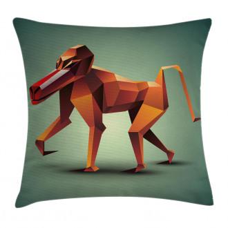 Polygonal Wild Monkey Pillow Cover