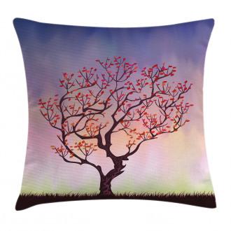 Sunset Rise Morning Scene Pillow Cover
