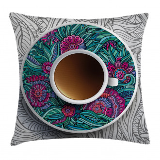 Coffee and Herbal Tea Pillow Cover