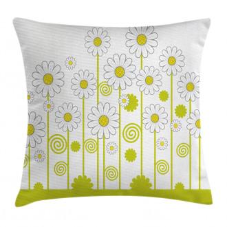 Daisises Flowers Garden Pillow Cover