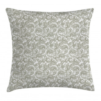 Damask with Ethnic Pillow Cover