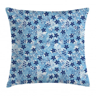 Floral Pattern Swirl Pillow Cover