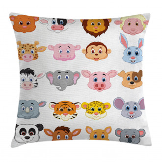 Farm Safari Animals Kid Pillow Cover