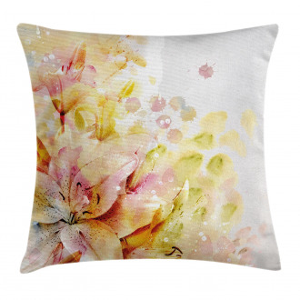Lilies Flowers Buds Pillow Cover