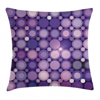 Geometric Violet Circles Pillow Cover