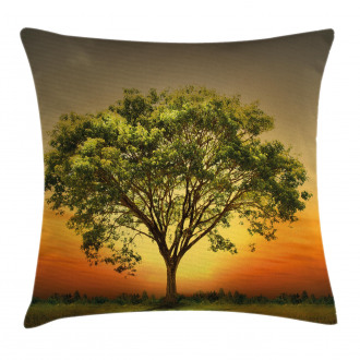 Sunset Scenery Valley Pillow Cover
