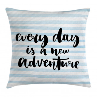 Adventure Text Pillow Cover