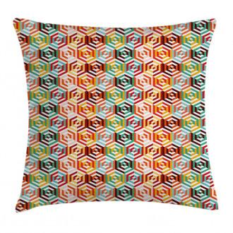 Hexagonal Shape Retro Pillow Cover