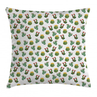 Cactus and Suculent Print Pillow Cover