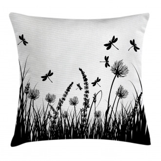Grass Bush Meadow Spring Pillow Cover