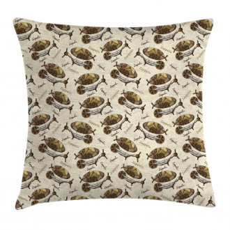 Vintage Form Aircraft Pillow Cover