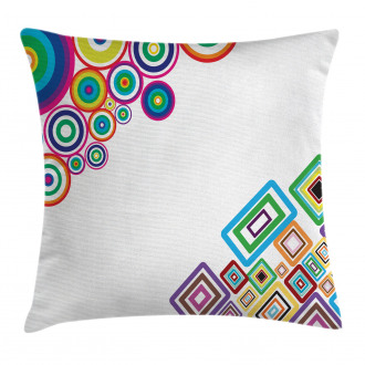Colored Rectangle Form Pillow Cover