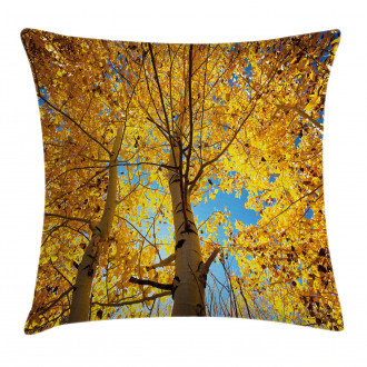 Autumn Trees Leaf Forest Pillow Cover