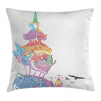 Asian Religious Bird Pillow Cover