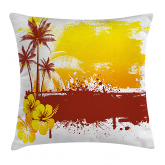 Palm Trees Sealife Ocean Pillow Cover
