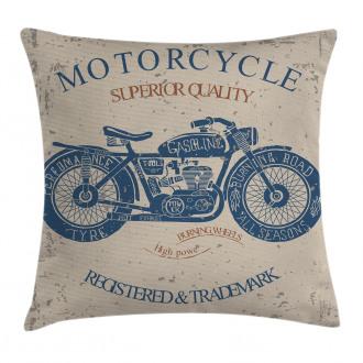 Retro Chopper Rider Pillow Cover