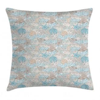 Pastel Toned Seashells Pillow Cover