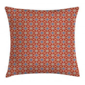 Curvy Lines Circles Tile Pillow Cover