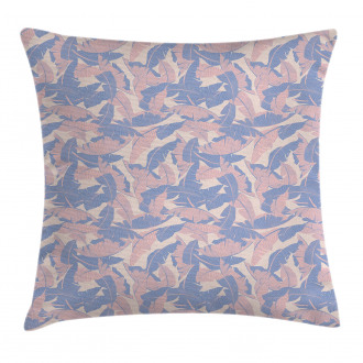 Palm Leaves Soft Tones Pillow Cover
