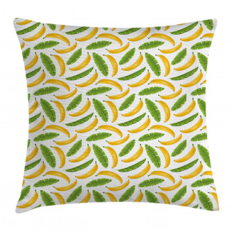 Yummy Banana Fruit Icons Pillow Cover