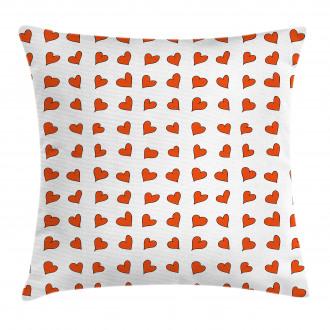 Hearts Cute Honeymoon Pillow Cover