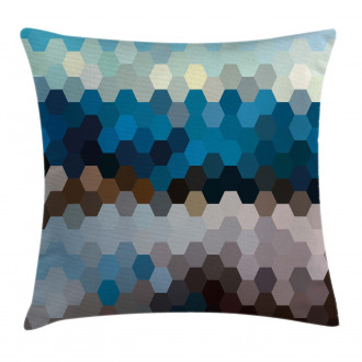 Geometric Puzzle Blurry Pillow Cover