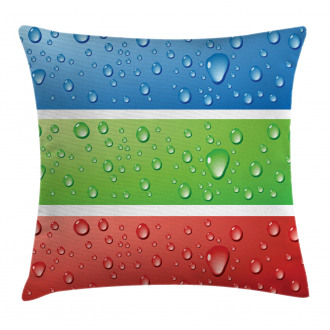 Water Drops on a Plastic Pillow Cover
