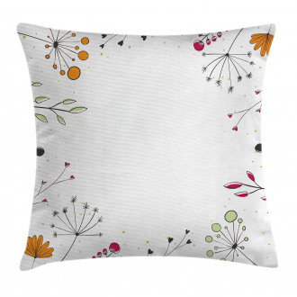 Geometric Flowers Floral Pillow Cover
