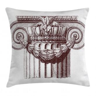 Antique Column Roman Pillow Cover