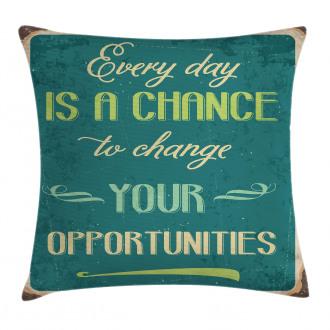 Motivational Retro Poster Pillow Cover