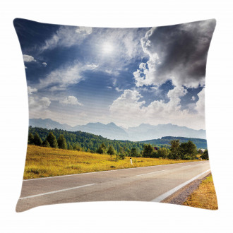Road Hot Sunny Road Pillow Cover