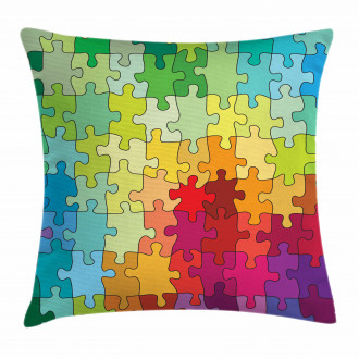 Colored Hobby Puzzle Pillow Cover