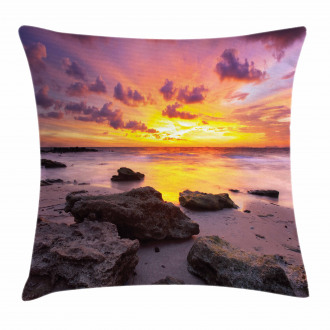 Sunset Idyllic Beach Pillow Cover