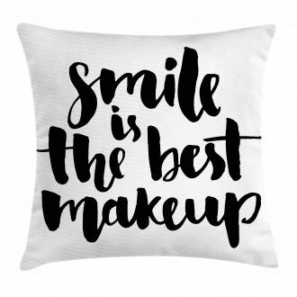 Smile Motivational Letter Pillow Cover