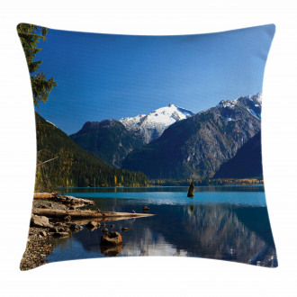 Winter Mountain Trees Pillow Cover