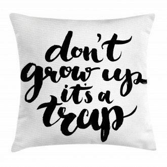 Motivational Life Letters Pillow Cover