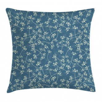 Twiggy Spring Petal Blue Pillow Cover