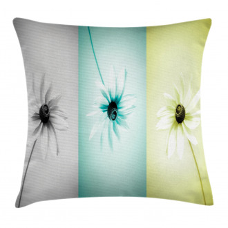 Different Daisy Flower Pillow Cover