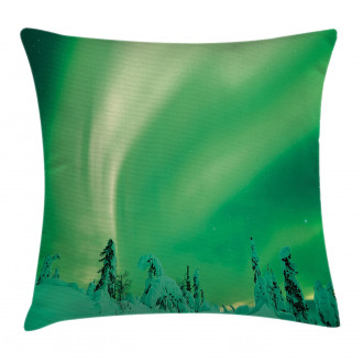 Icy Pine Tree Pillow Cover
