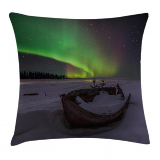 Boat and Galaxy Pillow Cover