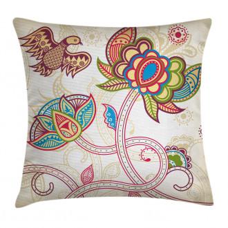 Flower Petal Shabby Chic Pillow Cover