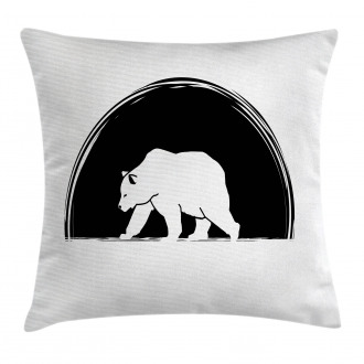 Big Polar Bear Walking Pillow Cover