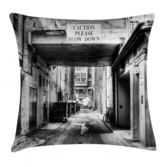 Old Fashion Urban District Pillow Cover
