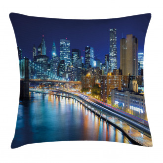 View of New York City Pillow Cover