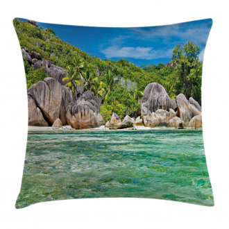 Scenery of Island Tree Pillow Cover