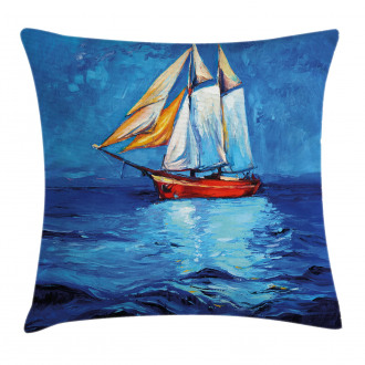 Sail Boat Art Picture Pillow Cover
