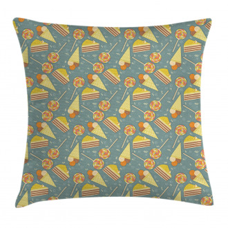 Candy and Ice Cream Pillow Cover